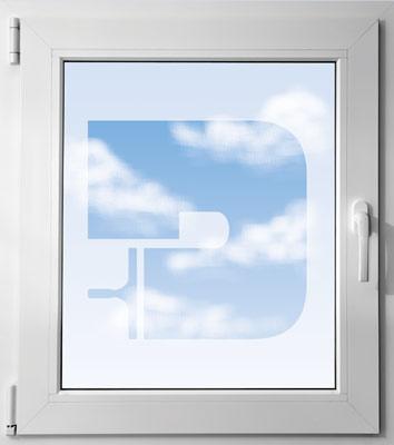 Fenêtre avec logo Davitres
